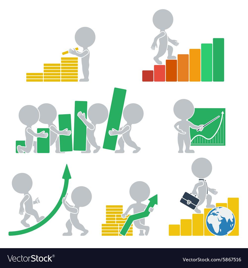 Flat people statistics vector image