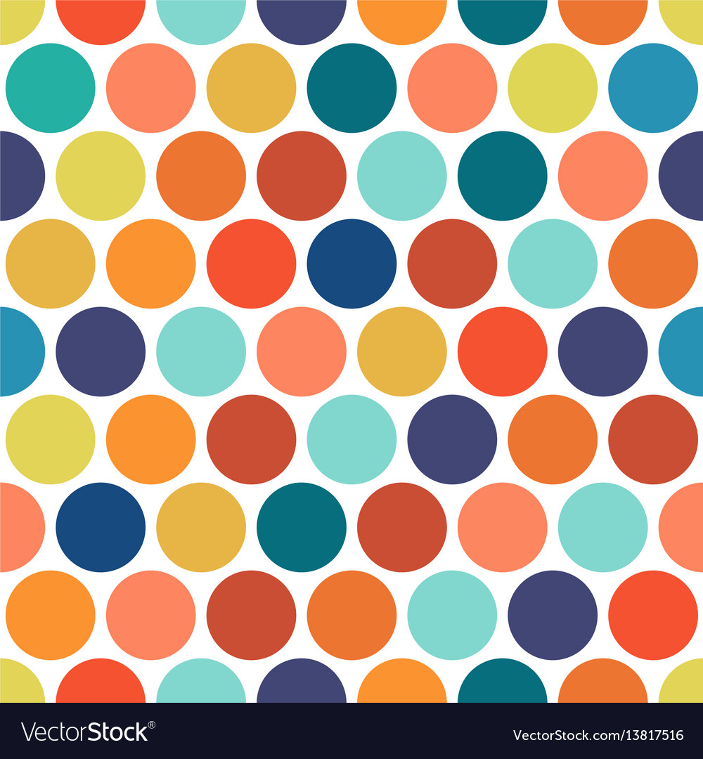Dotted colorful seamless geometric pattern vector image