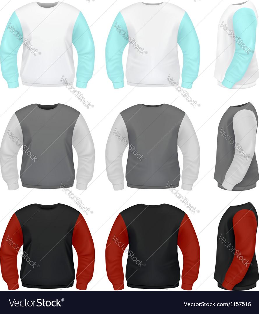 Men Sweater vector image
