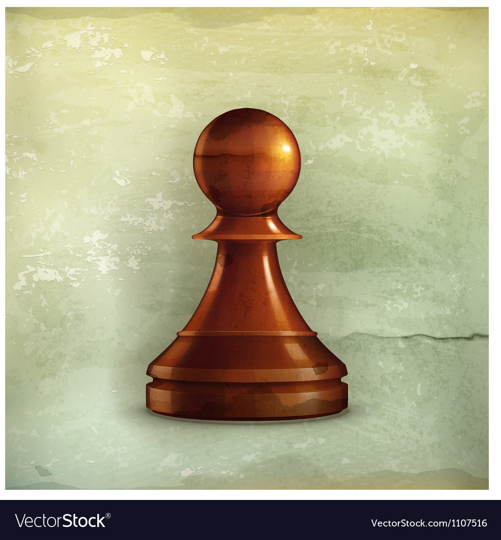Pawn old-style vector image