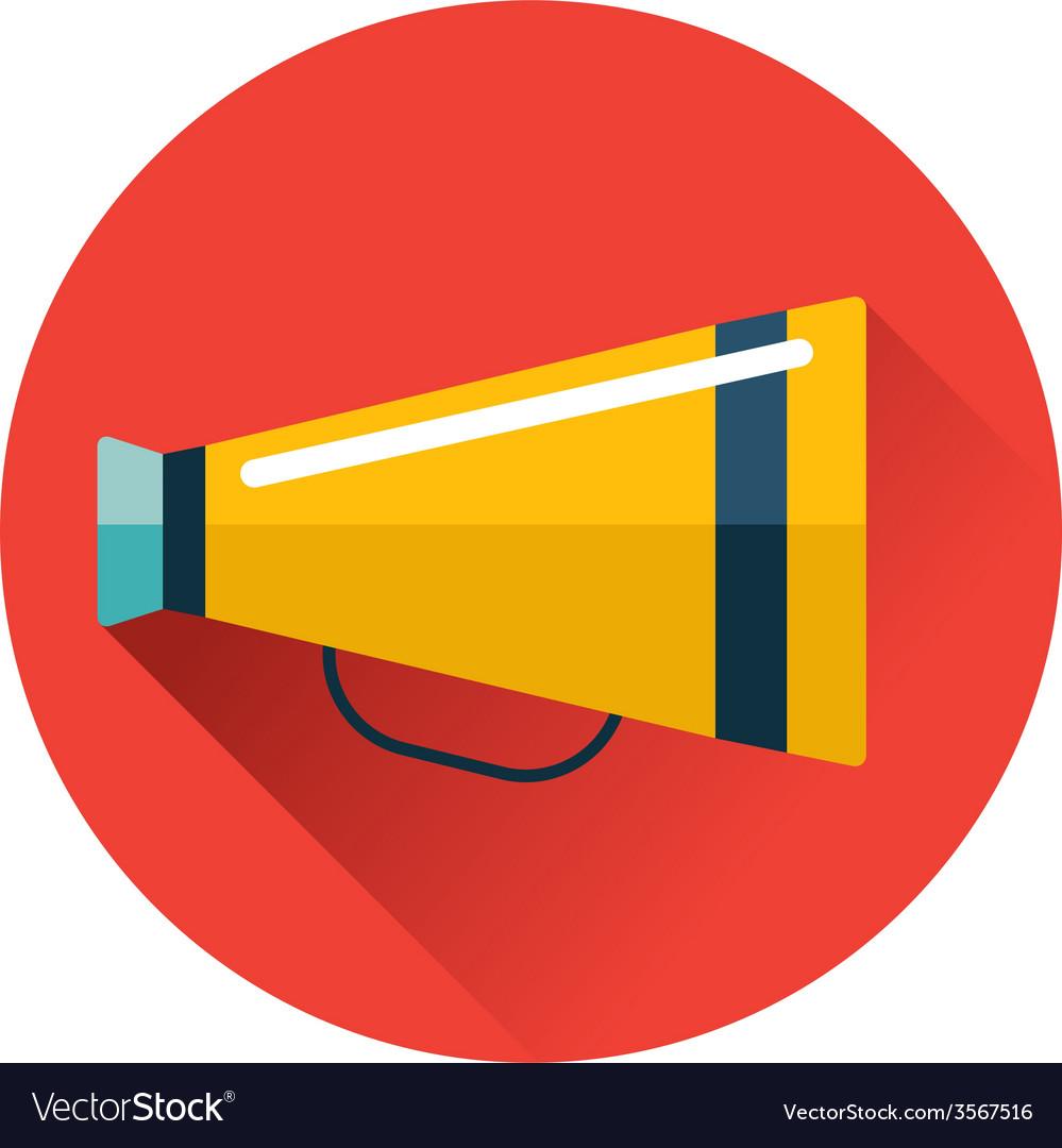 Speaking trumpet icon vector image