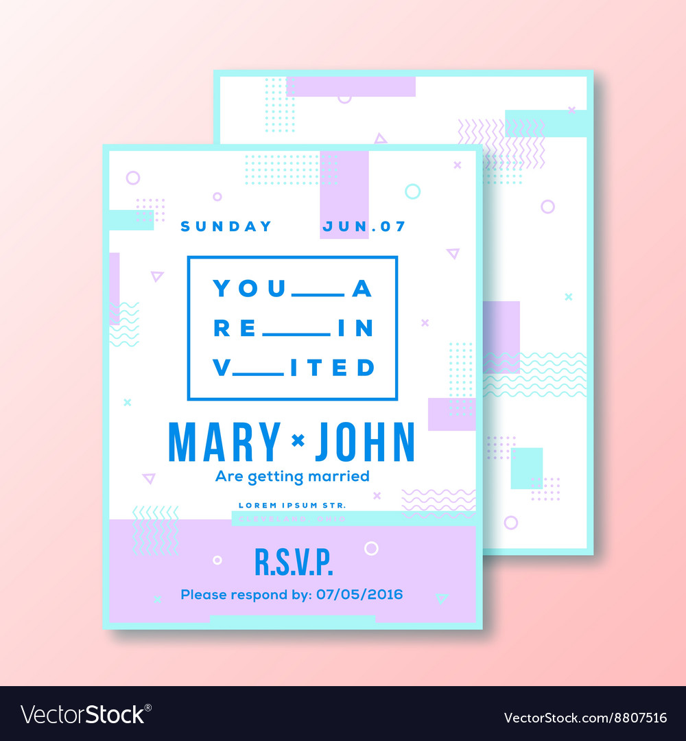 Wedding invitation card or poster template modern vector image stopboris Images