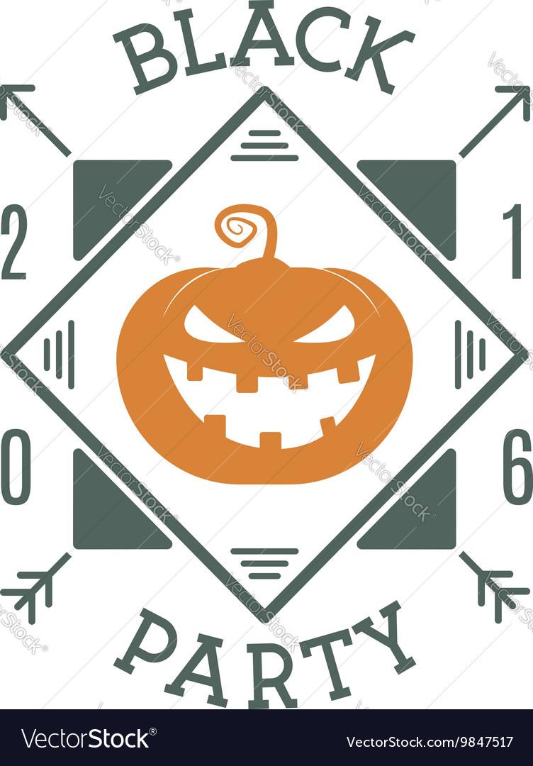 Happy halloween 2016 black party invitation label vector image stopboris Images
