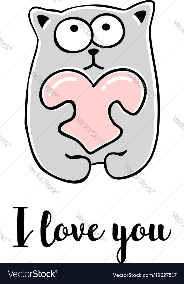 I love you hand drawn greeting card royalty free vector i love you hand drawn greeting card vector image kristyandbryce Gallery