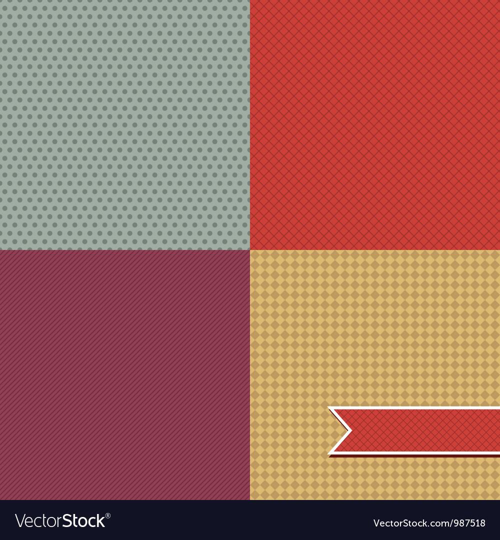 Retro Pattern Set vector image