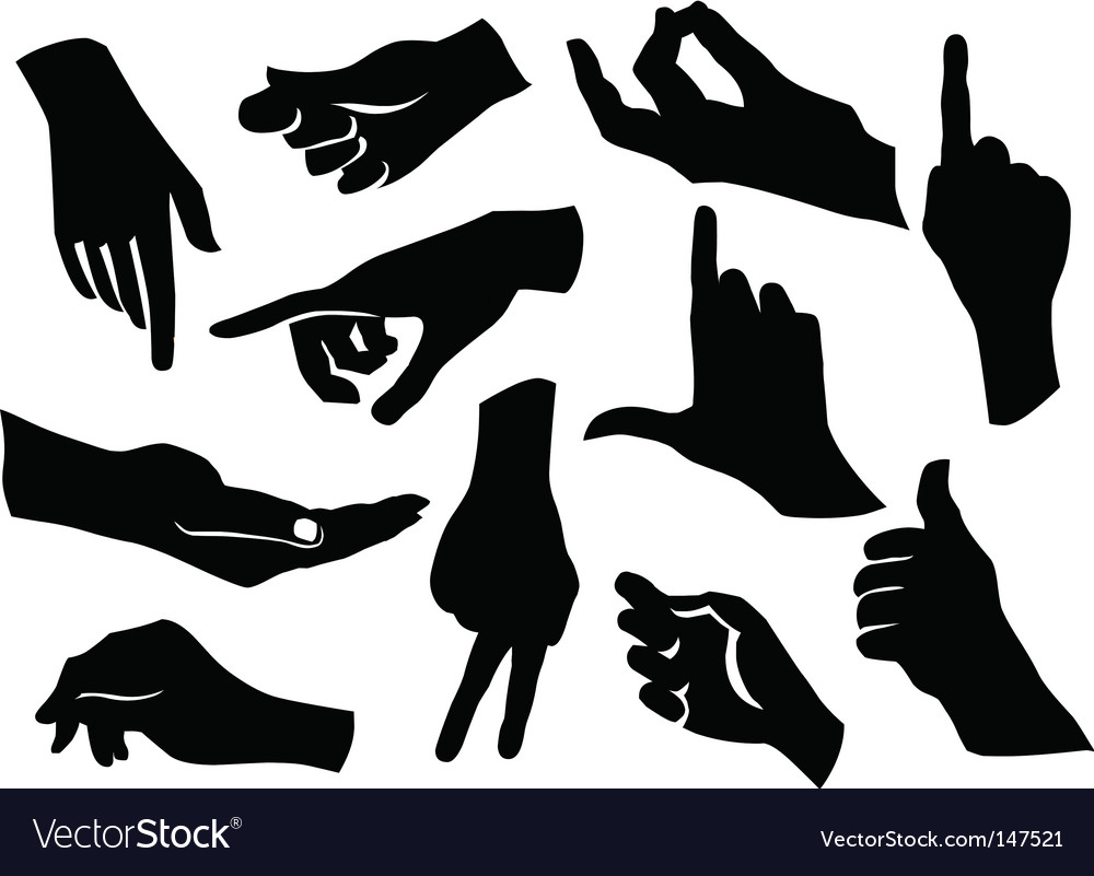 Friendship silhouettes set vector image
