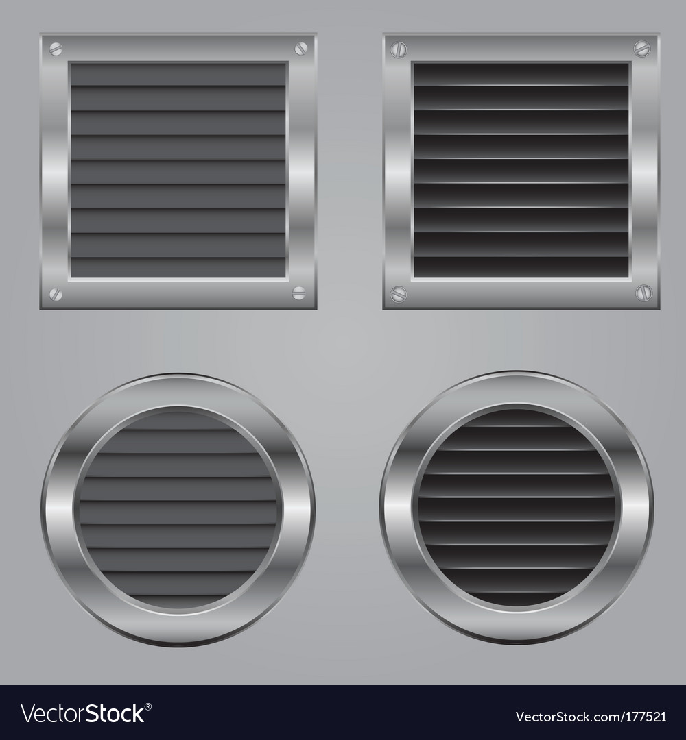 Metal cooling squares vector image