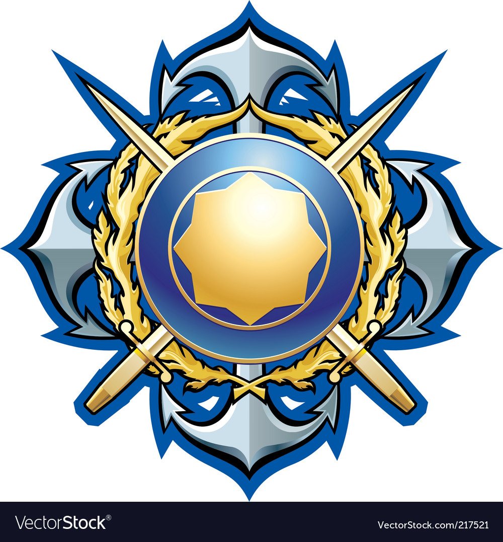 Navy style badge vector image