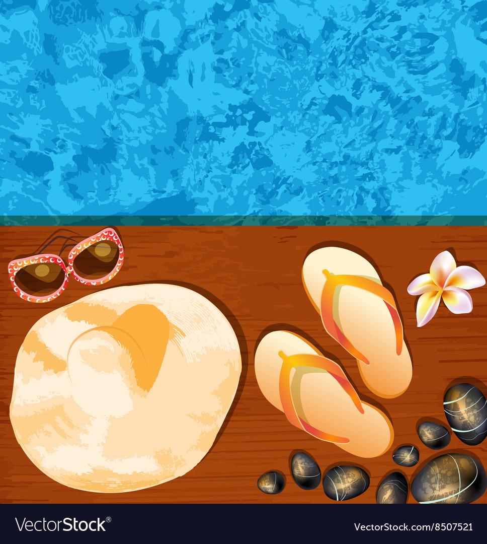 Relaxing Resort Background vector image