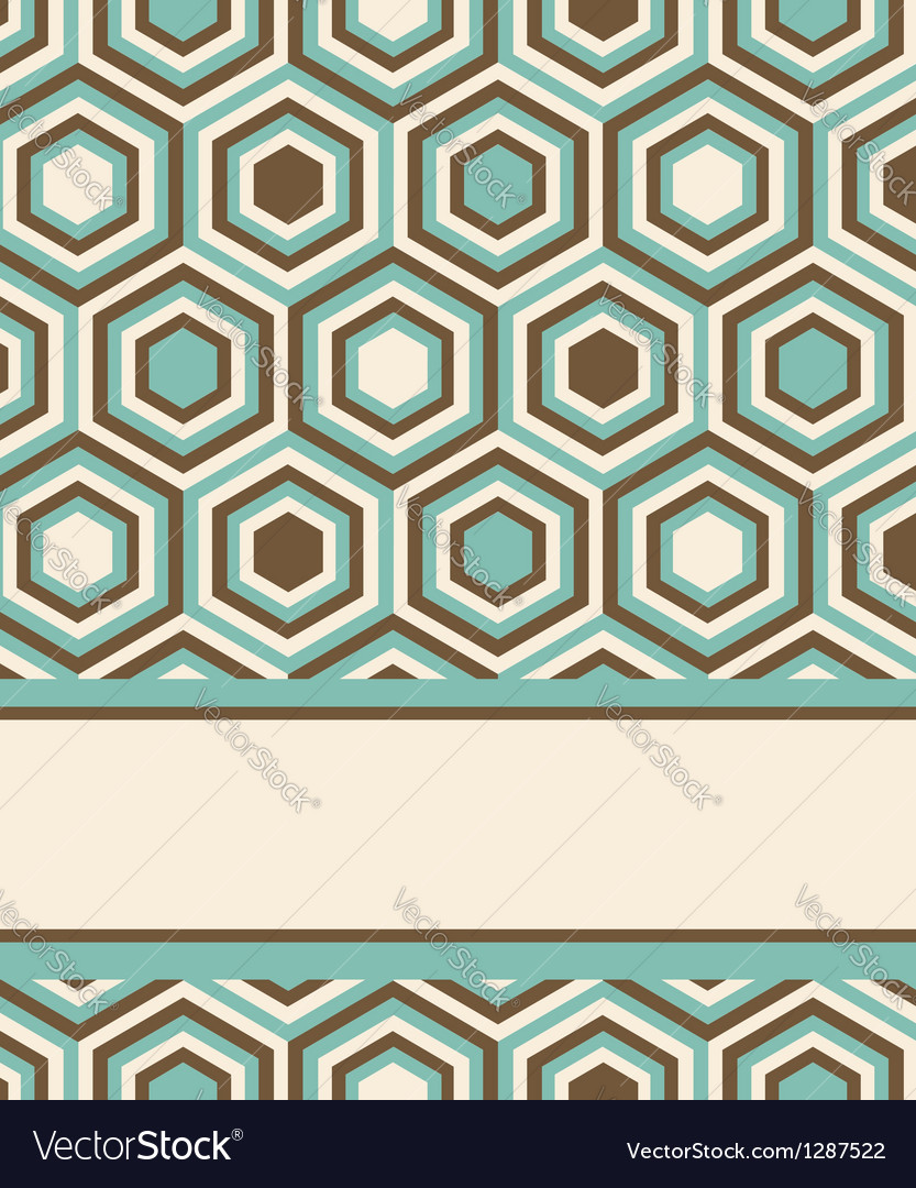 Invitation or card design with fashion pattern Vector Image