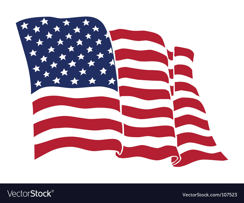 American Flag Royalty Free Vector Image VectorStock - United states map vector free ai