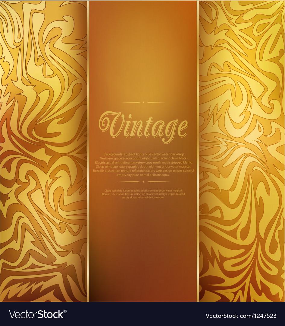 Gold vintage background vector image