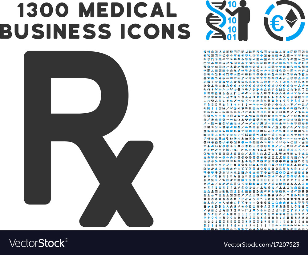 Rx symbol icon with 1300 medical business icons vector image rx symbol icon with 1300 medical business icons vector image buycottarizona