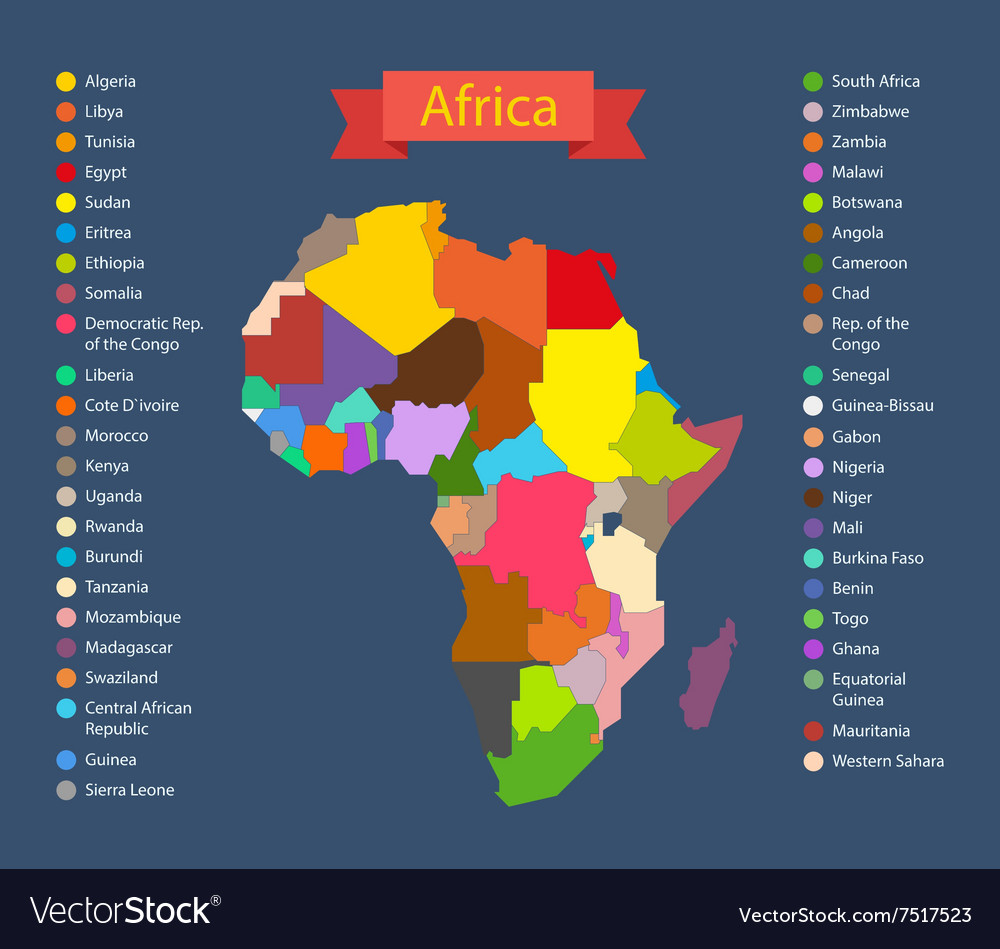World map infographic template countries of africa world map infographic template countries of africa vector image gumiabroncs Image collections