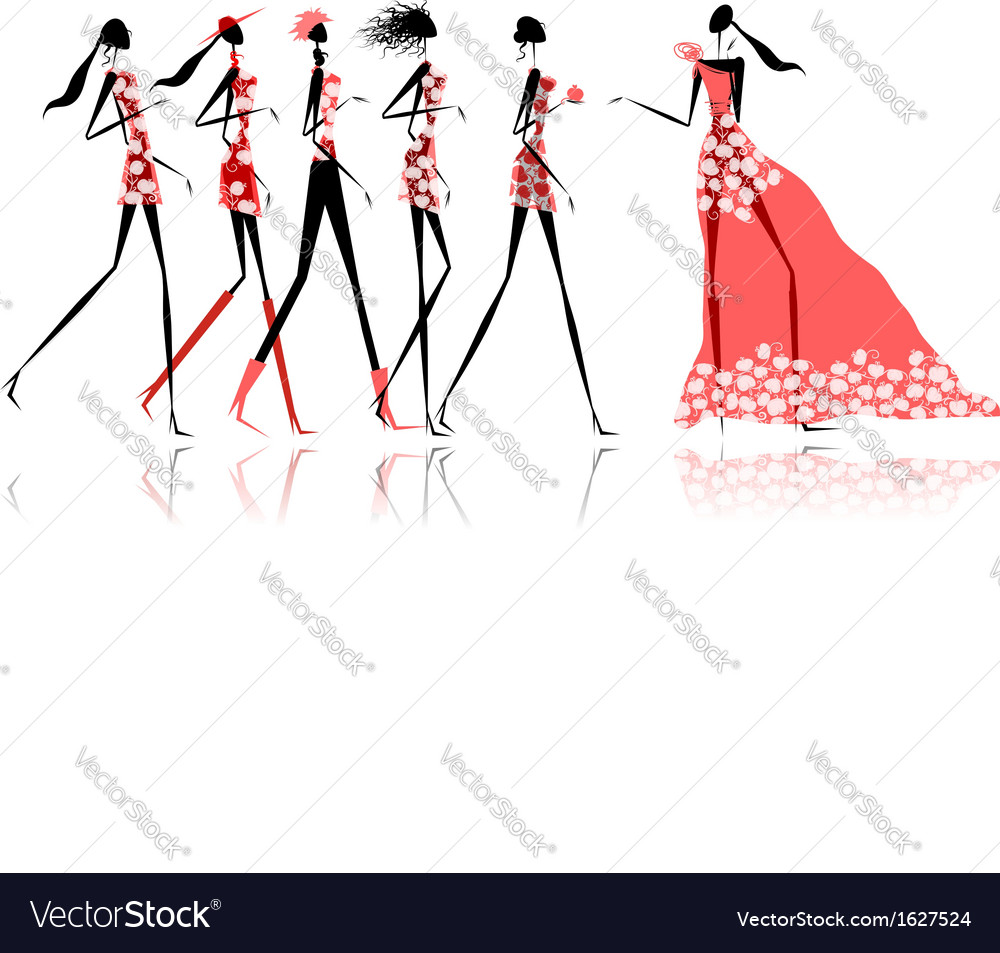 Hen party Funny friends for your design vector image