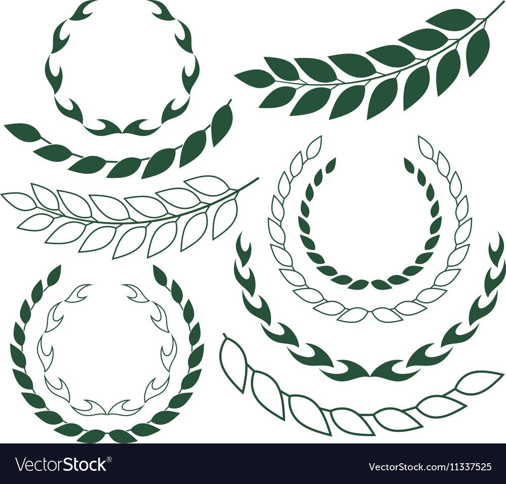 Laurel Wreath Outline Silhouette vector image