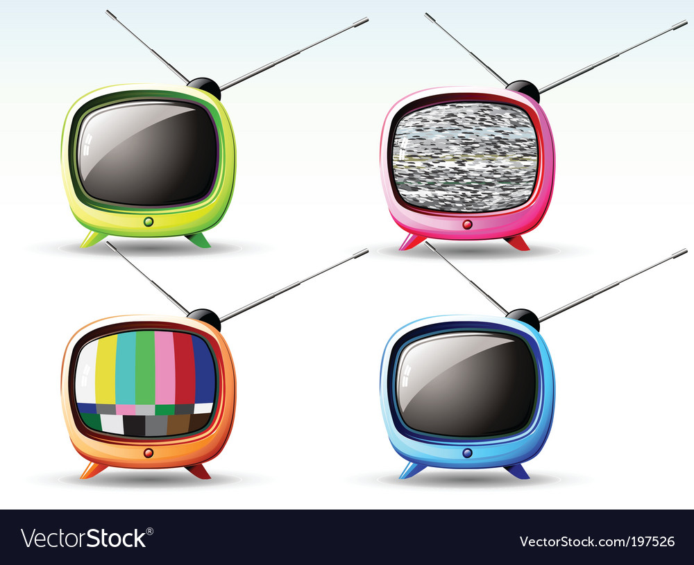 Cute television vector image