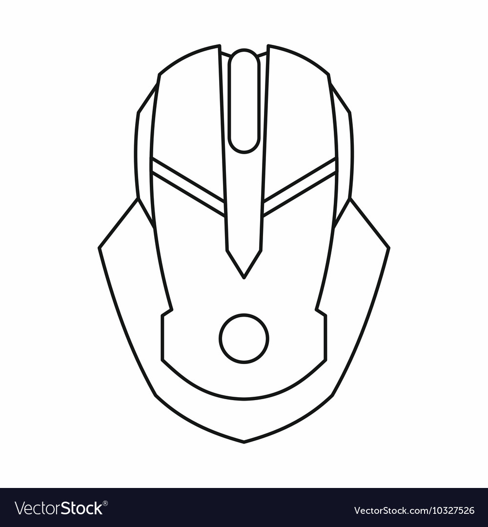 gaming mouse vector
