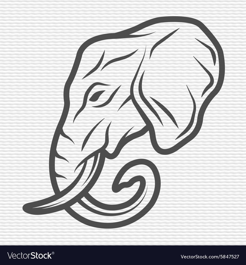 Elephant symbol logo emblem vector image