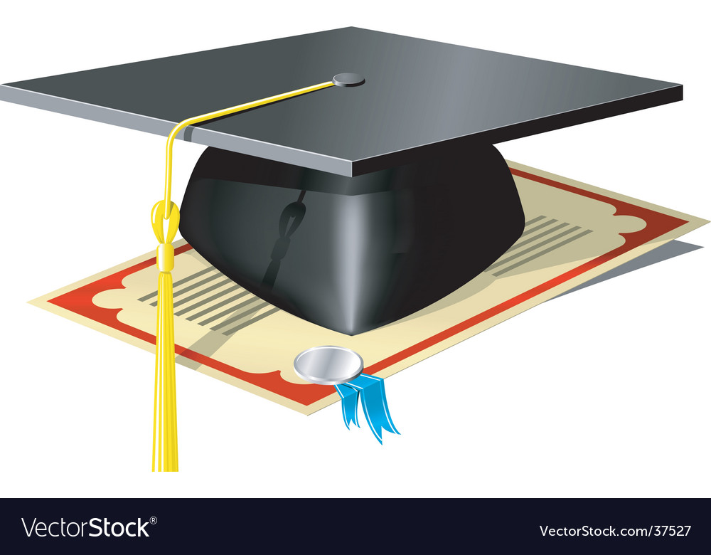 Graduation mortar board vector image