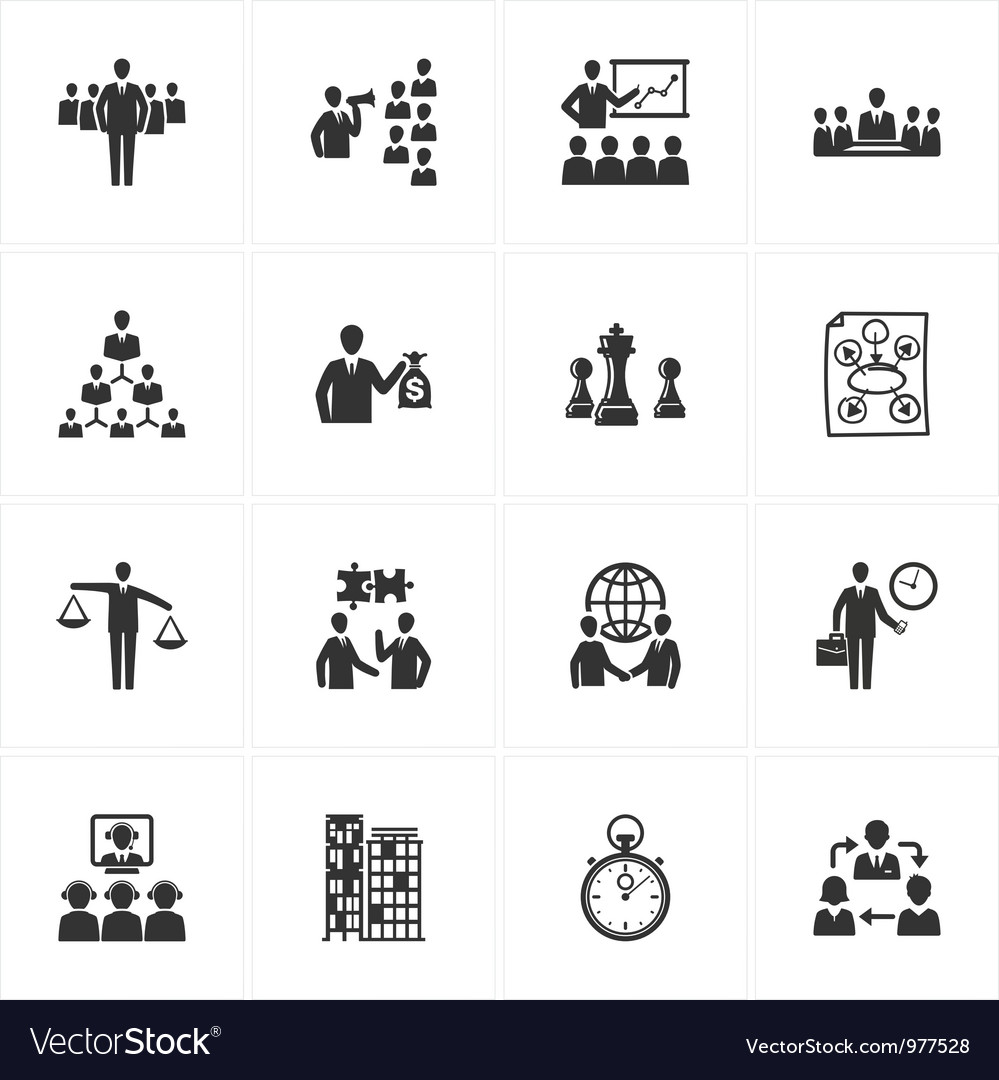 Management and Business Icons vector image