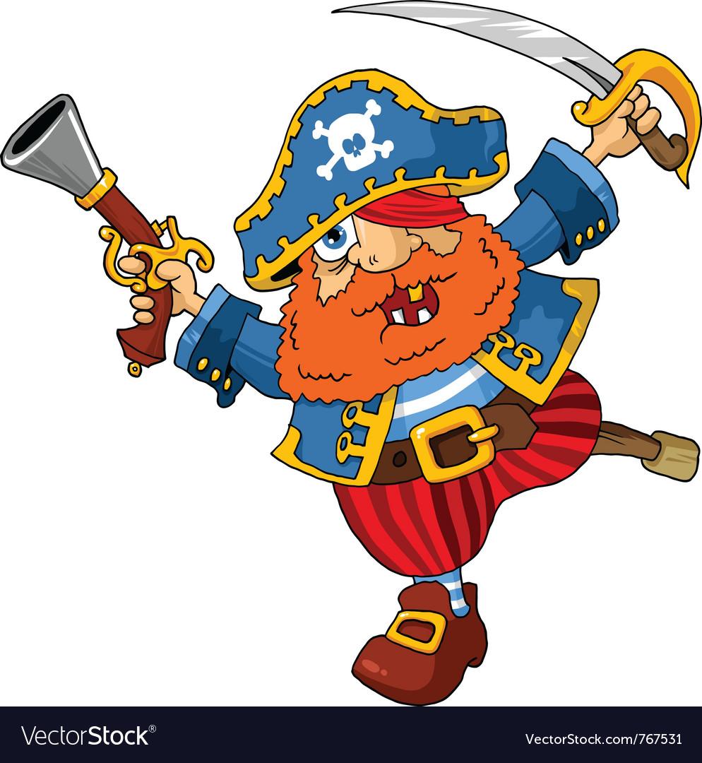 pirate cartoon royalty free vector image vectorstock