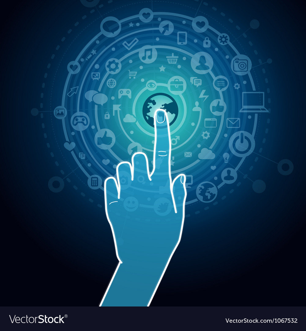 Touchscreen concept vector image