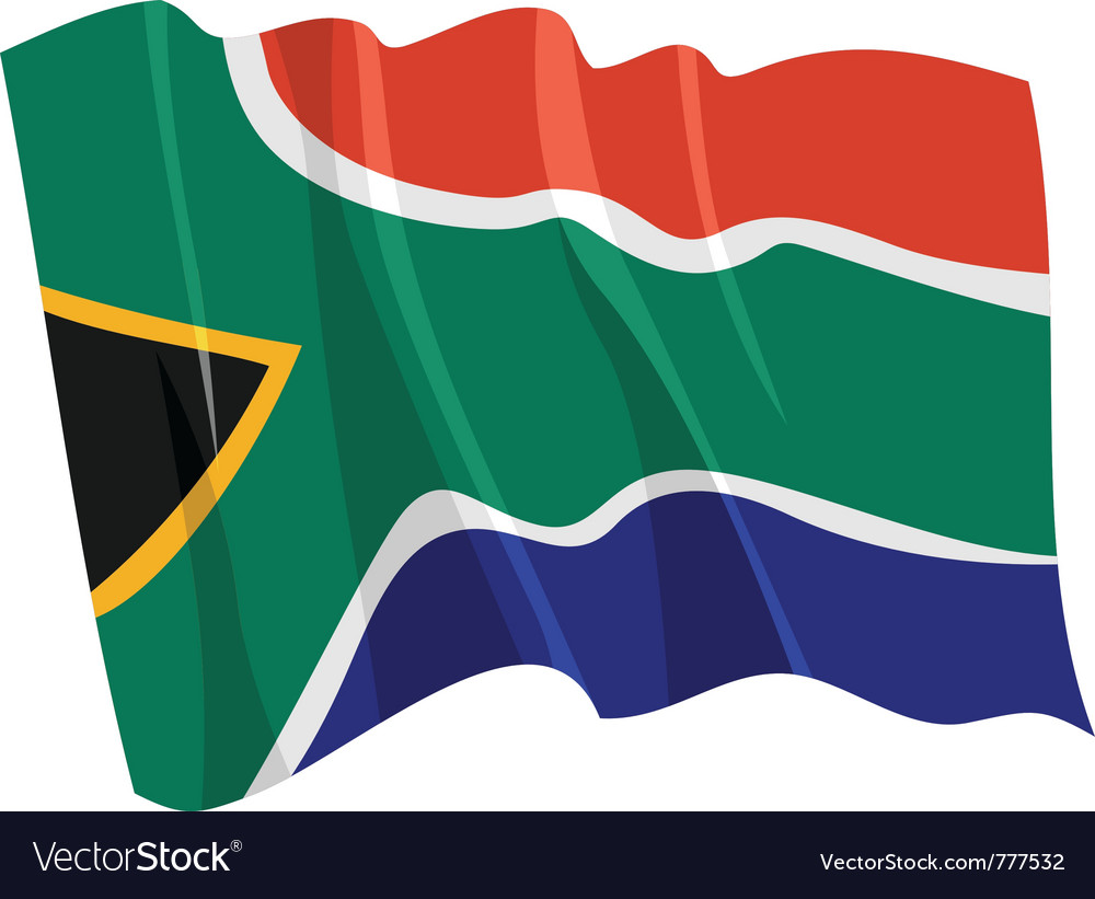 Political waving flag of south africa vector image