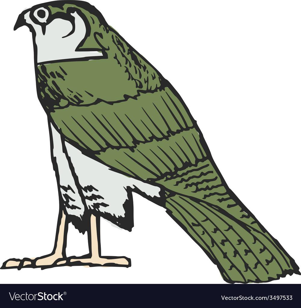 falcon ancient egyptian symbol royalty free vector image