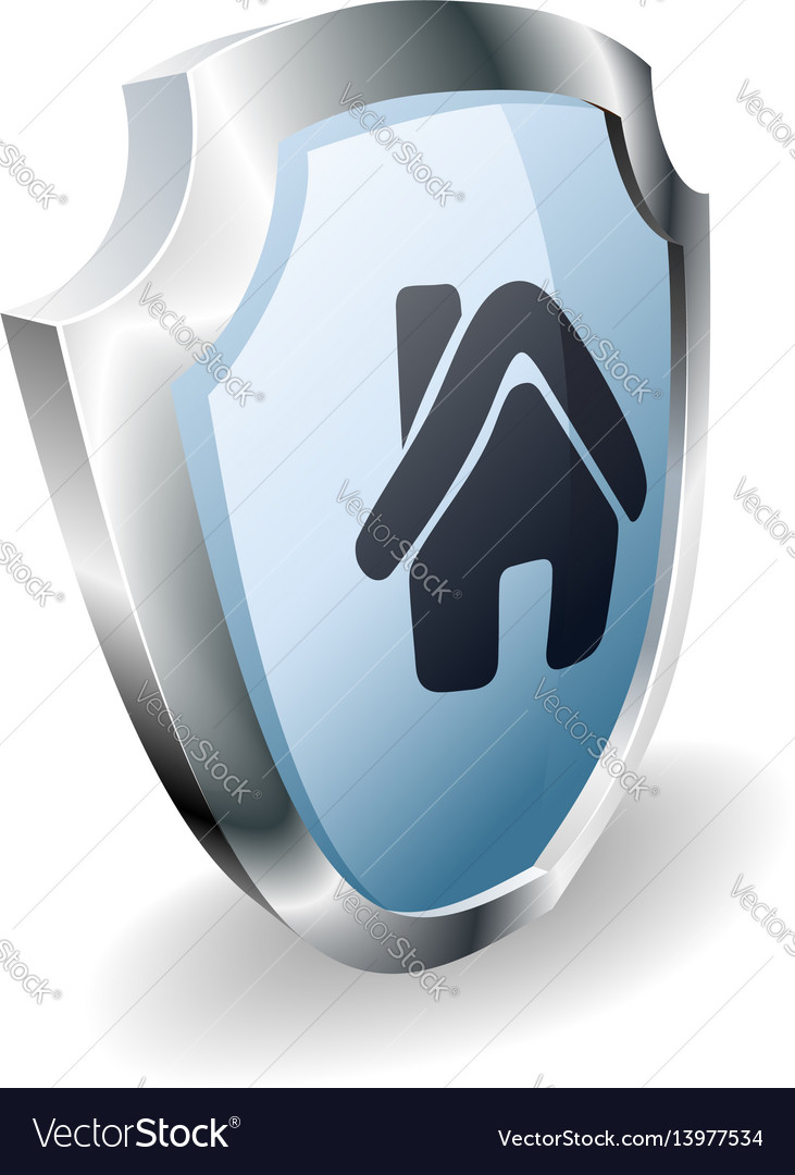 House shield concept vector image
