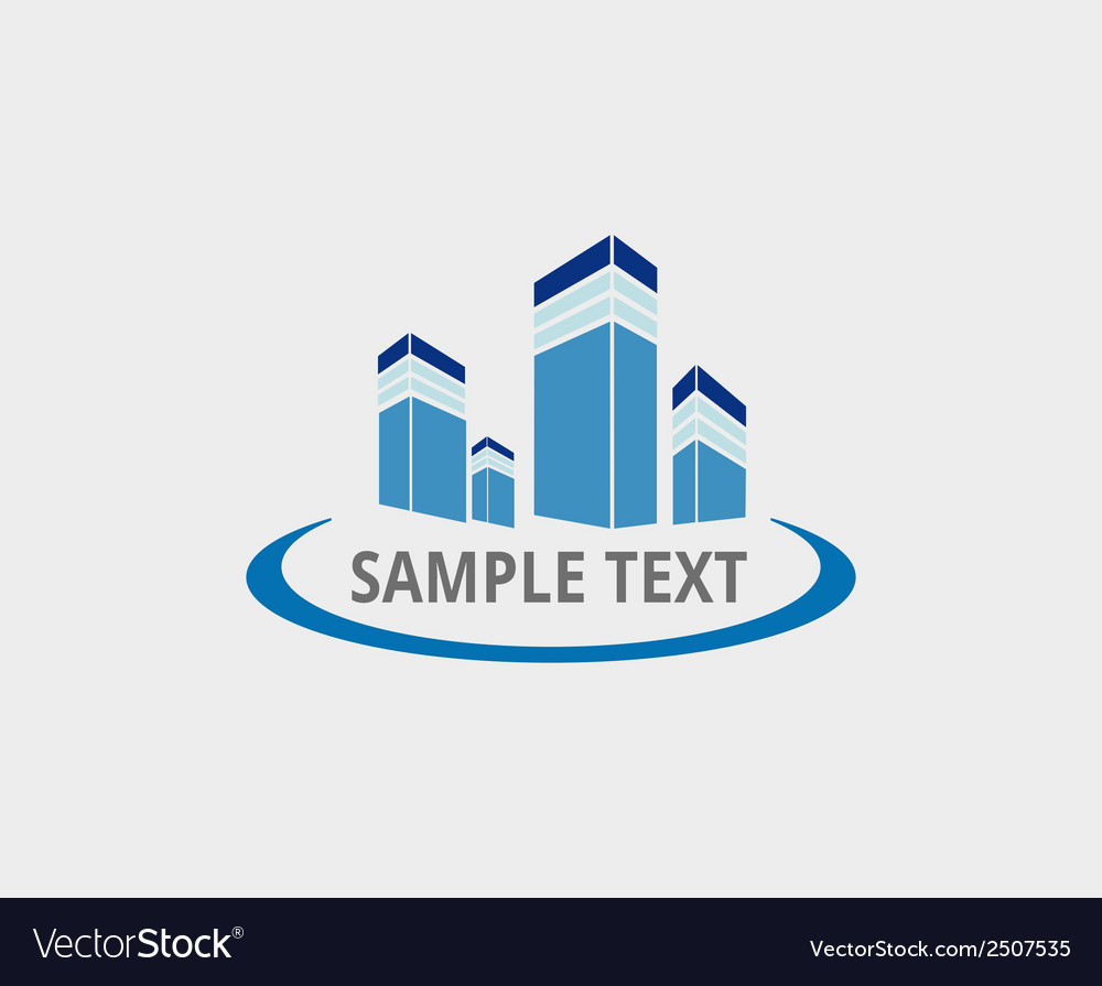 Abstract Architecture Building Logo Design Vector Image