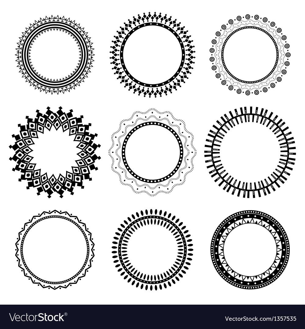 Set of ethnic frames vector image