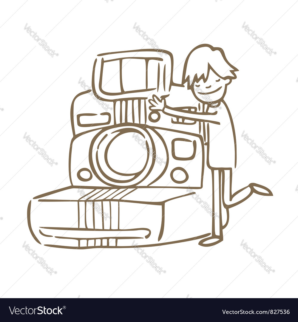 I love photo vector image