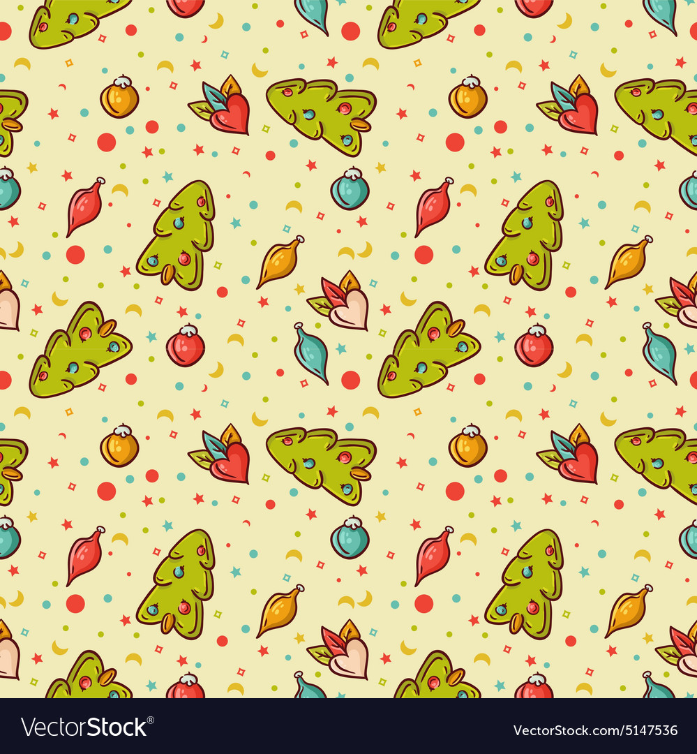 Christmas colorful Seamless background vector image
