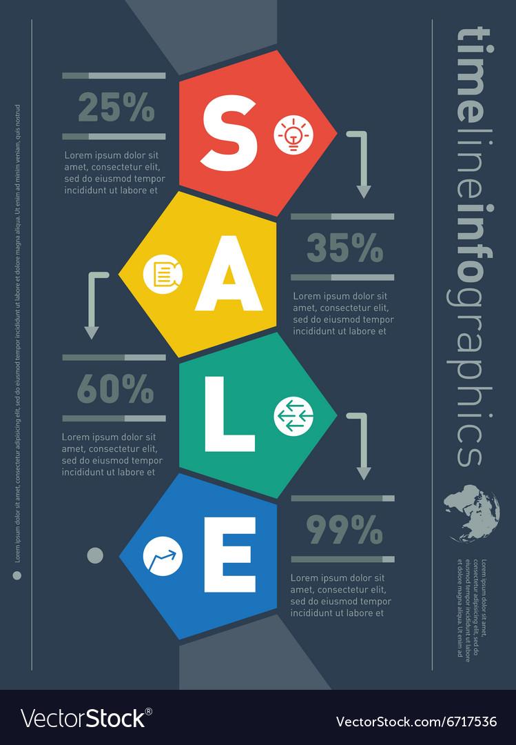 Sale Infographic Timeline Web Template For Diagram - Timeline website template