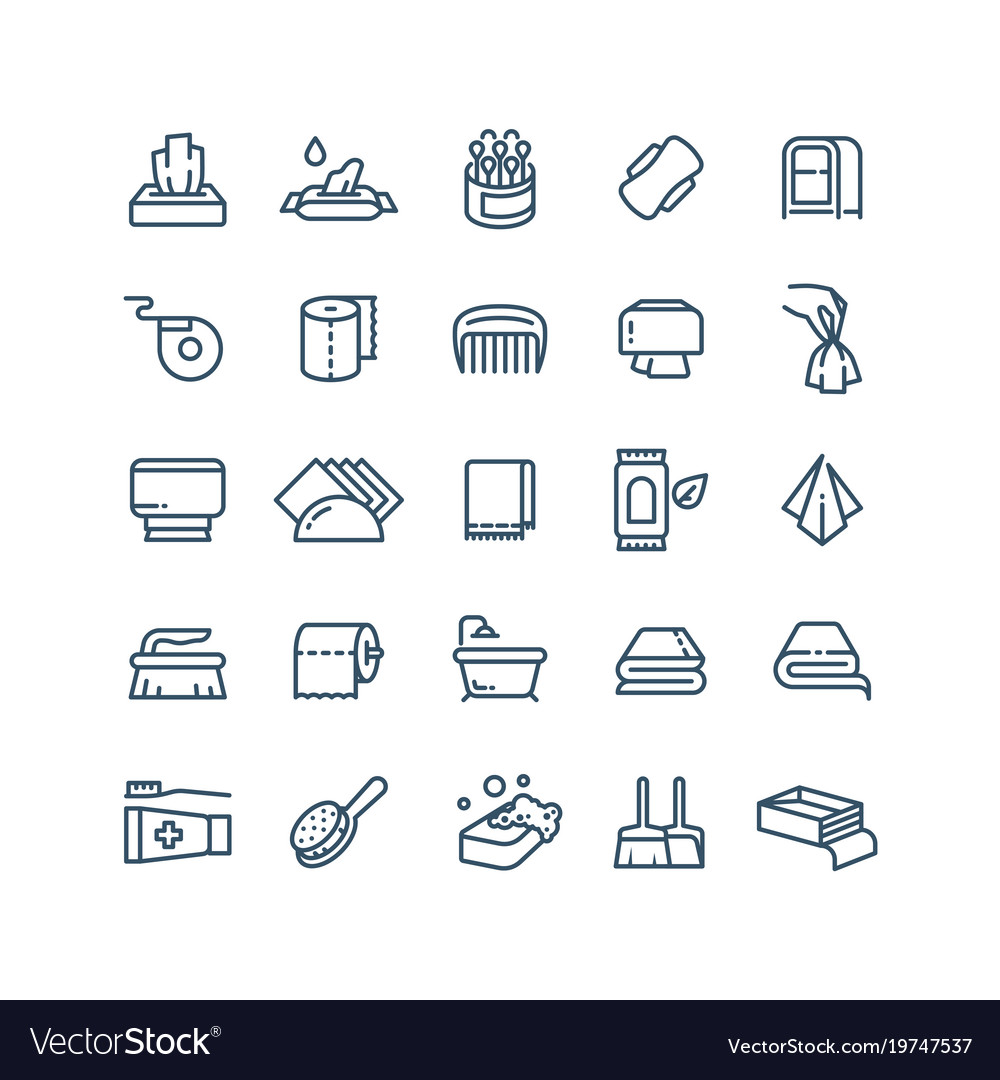 Clean hands and antiseptic napkins line vector image