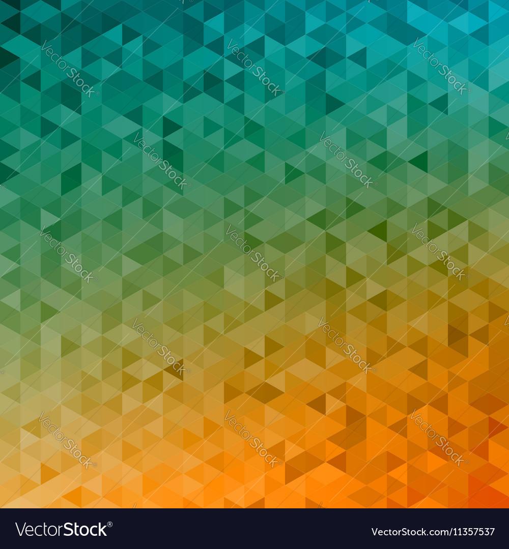 Polygonal abstract Background - yellow orange vector image