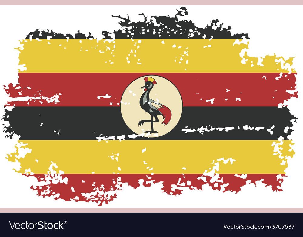 Uganda grunge flag vector image