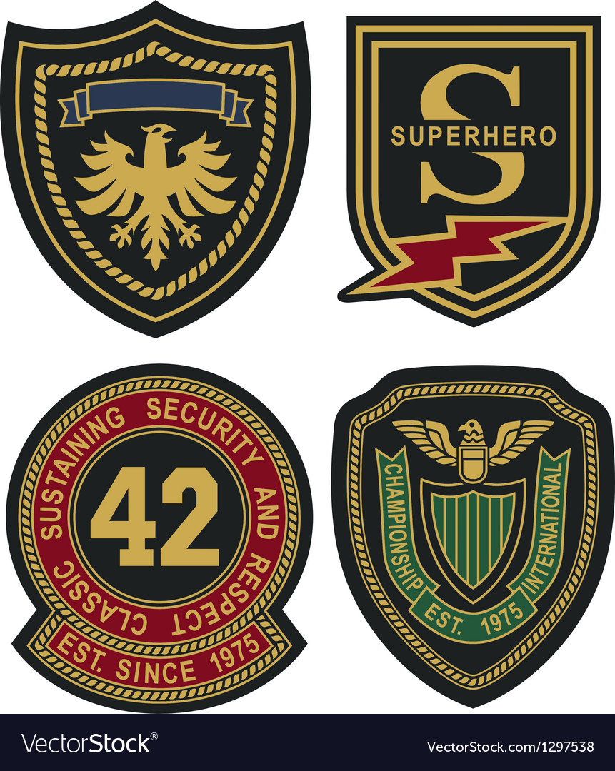 Emblem badge shield vector image