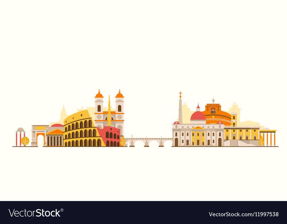 Rome abstract skyline vector image
