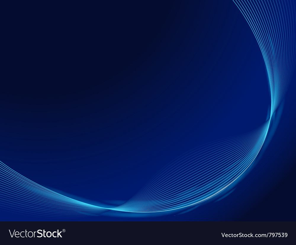 Blue waves design template Vector Image