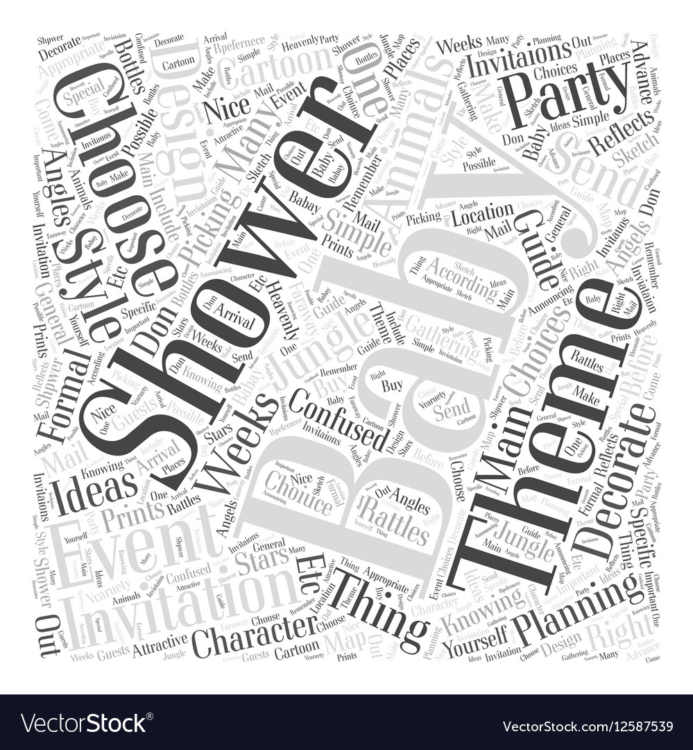 Baby shower invitation ideas Word Cloud Concept vector image