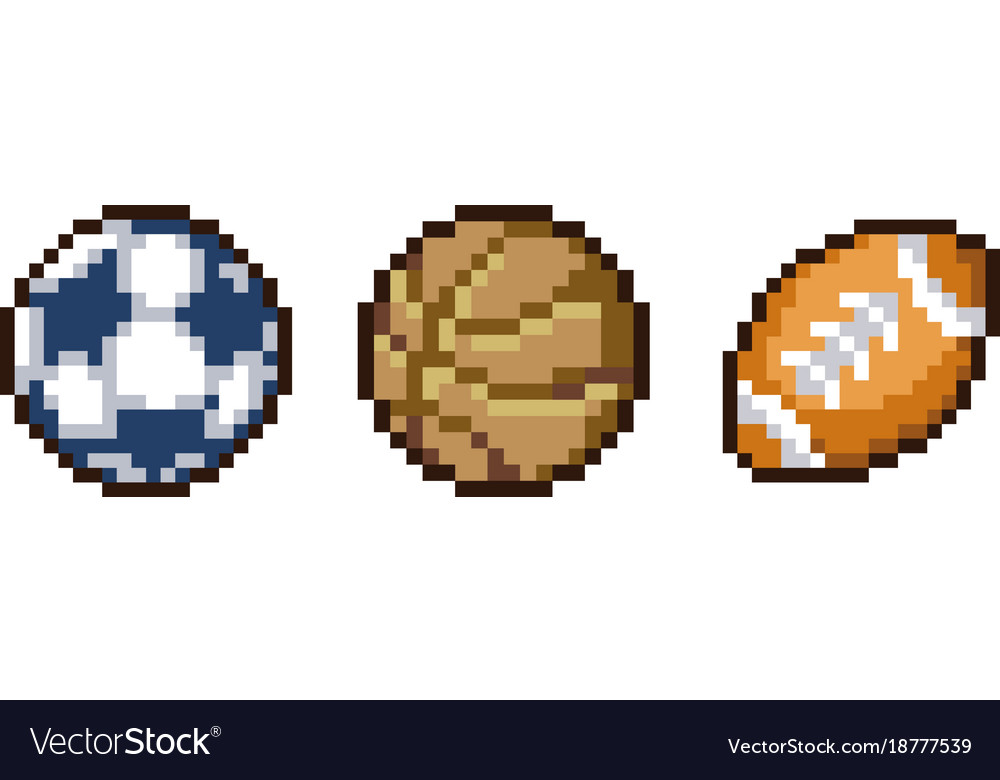 Set of pixel sport icons Royalty Free Vector Image