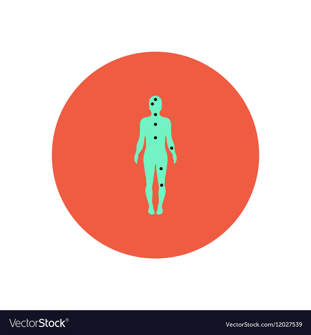 Stylish icon in color circle Ebola symptoms pain