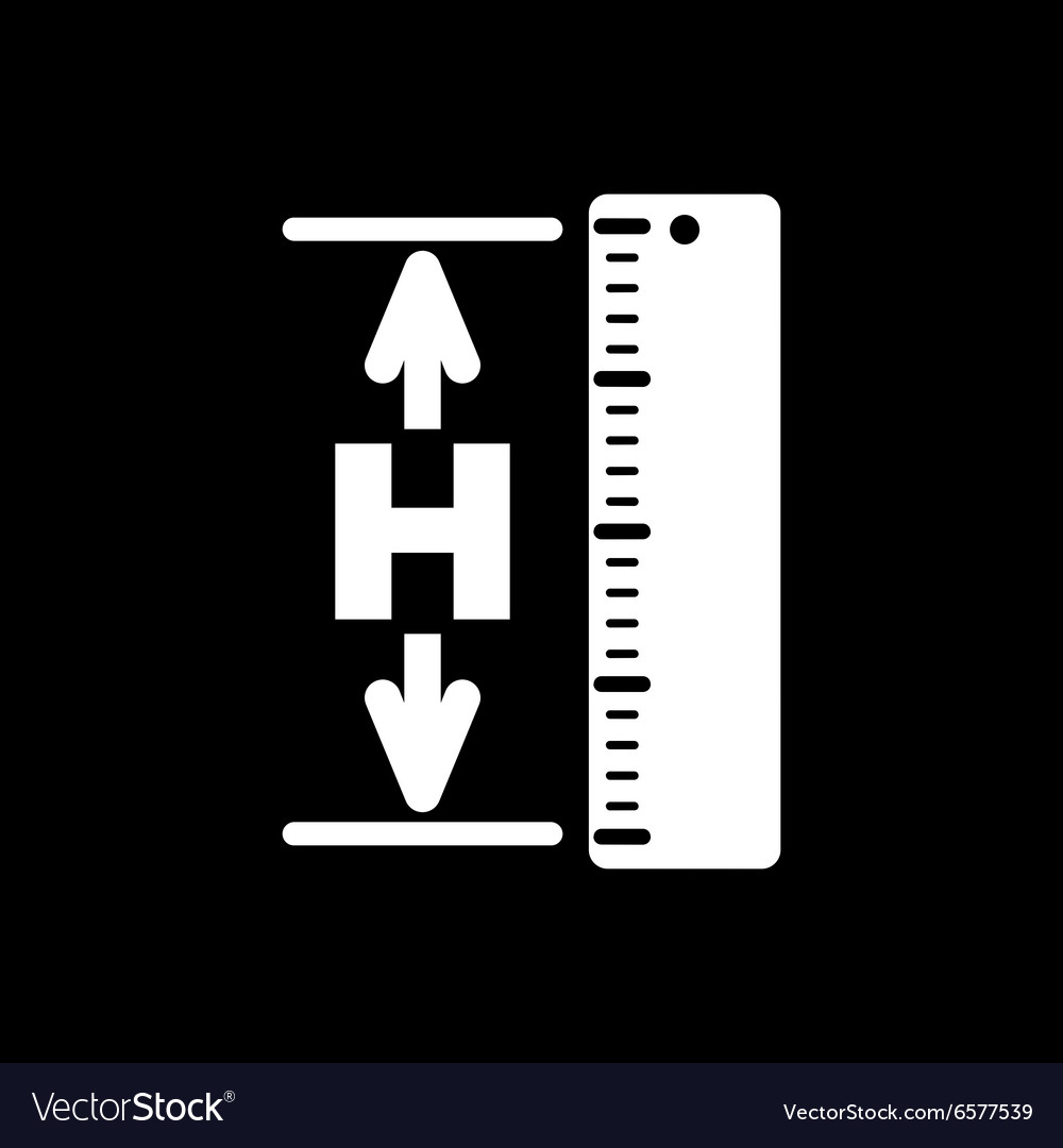 The Height Icon Altitude Elevation Level Hgt Vector Image - Altitude elevation