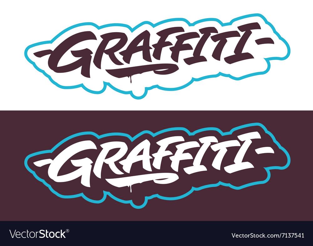 Graffiti lettering titles vector image