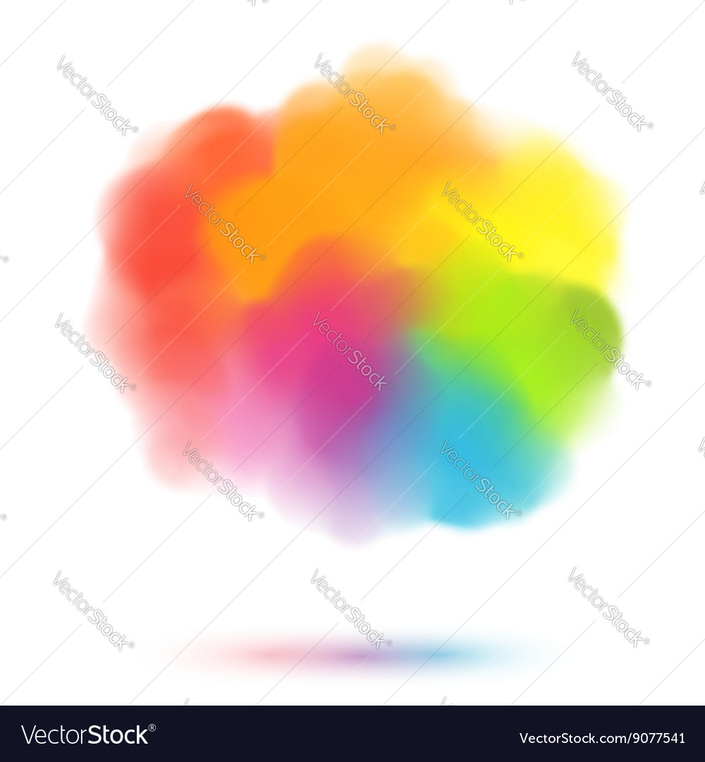Rainbow colors blurred cloud vector image