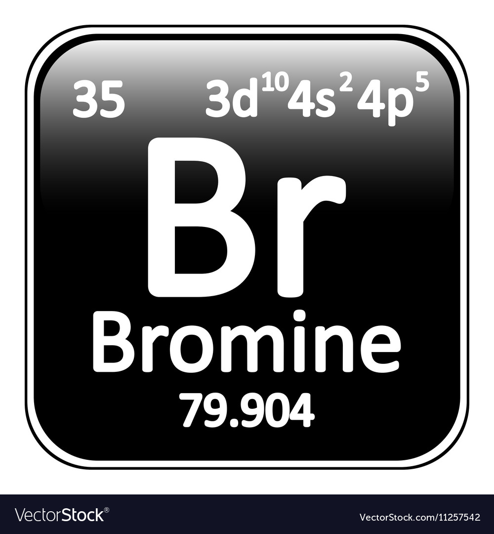 Periodic table element bromine icon royalty free vector periodic table element bromine icon vector image biocorpaavc