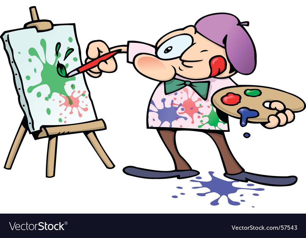 painting artist. Painting Artist Vector