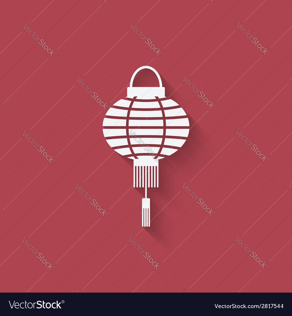 Chinese lantern design element vector image
